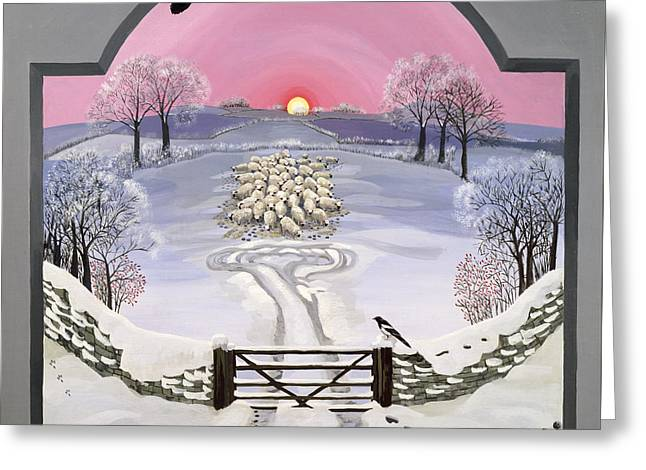 Winter Greeting Card by Maggie Rowe