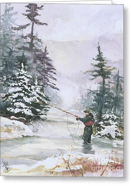 Winter Magic Greeting Card by Elisabeta Hermann