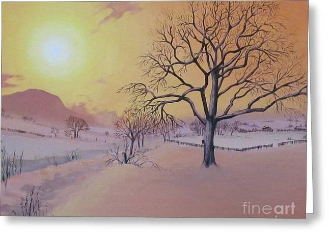 Blizzard Scenes Greeting Cards - Winter Greeting Card by Margaryta Yermolayeva