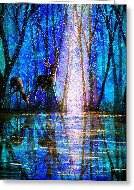 Surreal Greeting Cards - Winter Melody Greeting Card by Ann Marie Bone