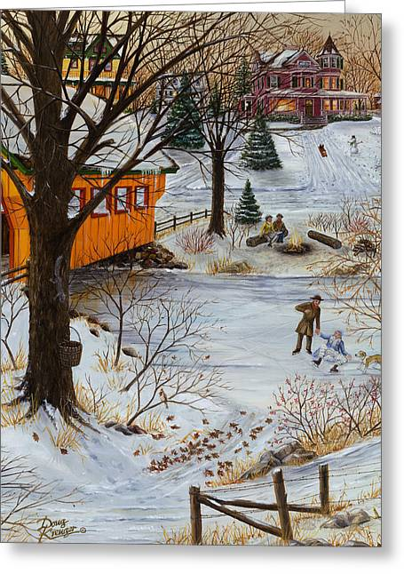 Size 3 Greeting Cards - Winter Memories 3 of 3 Greeting Card by Doug Kreuger