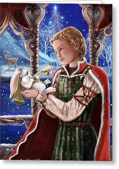 Heir Greeting Cards - Winter Messenger Greeting Card by April Lily