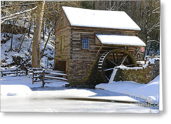 Snow Scenes Greeting Cards - Winter Mill Greeting Card by Paul Ward