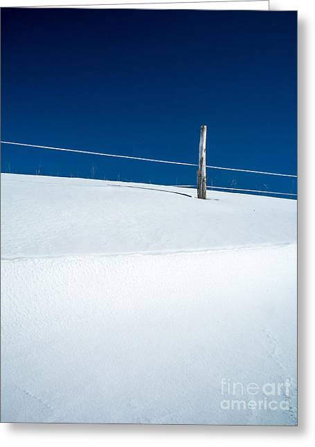 Bleak Greeting Cards - Winter Minimalism Greeting Card by Edward Fielding