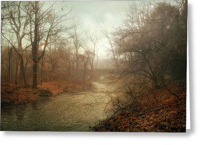 Winter Trees Digital Greeting Cards - Winter Mist Greeting Card by Jessica Jenney