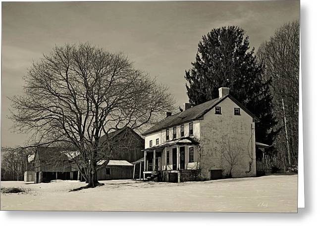 Dilworthtown Greeting Cards - Winter Moods Greeting Card by Gordon Beck