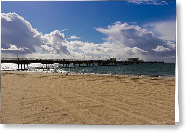 So Cal Greeting Cards - Winter Morning At Belmont Memorial Veterans Pier Greeting Card by Heidi Smith
