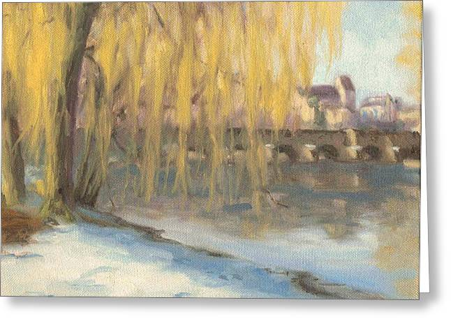 Paysage A L Greeting Cards - Winter morning in Grez - Matin hivernal en Grez Greeting Card by David Ormond