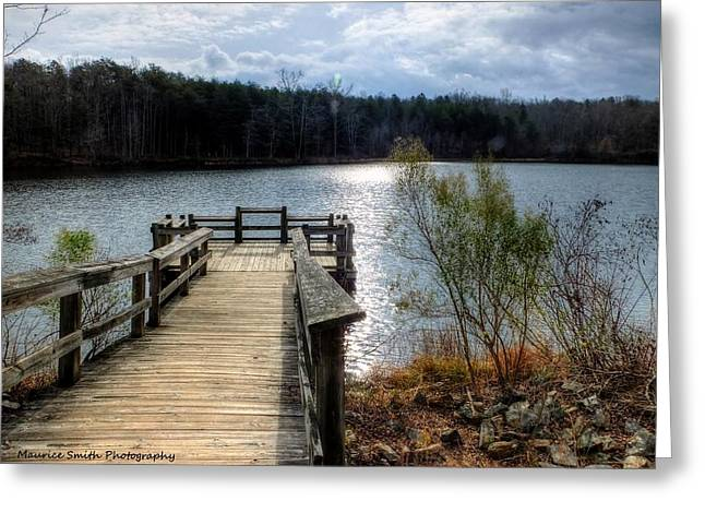 Gastonia Greeting Cards - Winter Morning on Lake Crowders Mountain Greeting Card by Maurice Smith