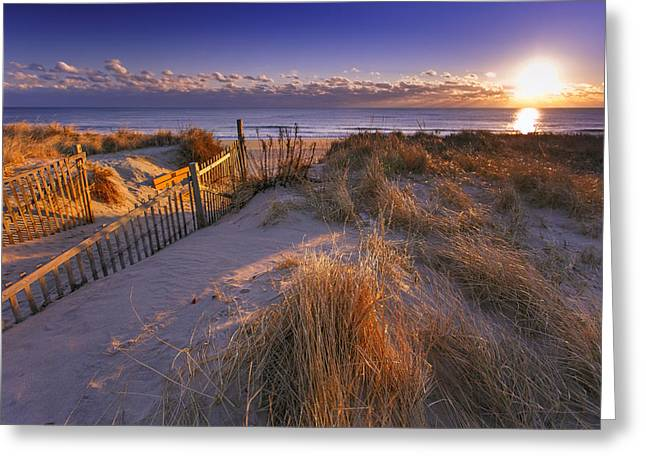 Nauset Beach Greeting Cards - Winter Morning On Nauset Beach Greeting Card by Dapixara Art