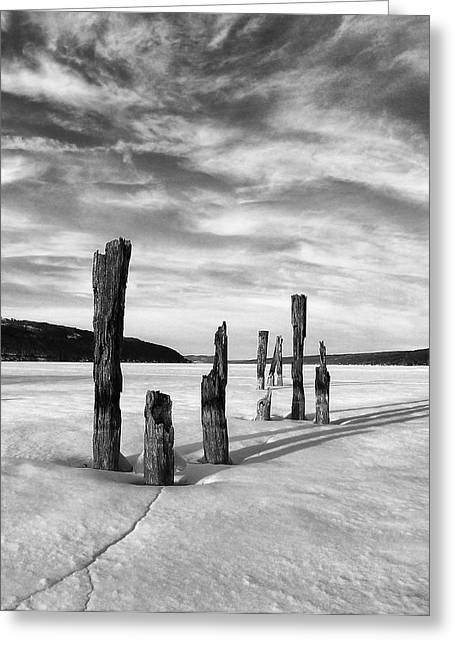 Keuka Greeting Cards - Winter. No End In Sight Greeting Card by Bob Magee