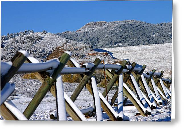 Winter On Horsetooth Mountain Greeting Card by Emily Clingman
