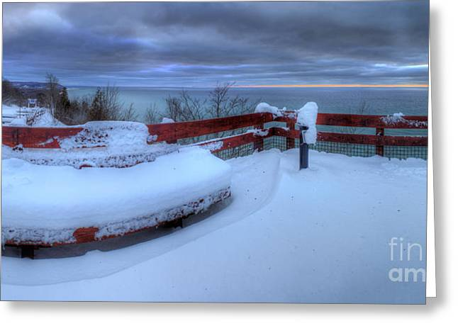 Arcadia Greeting Cards - Winter on the Arcadia Overlook Greeting Card by Twenty Two North Photography