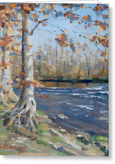 Recently Sold -  - Edwin Warner Park Greeting Cards - Winter on the Little Harpeth Greeting Card by Sandra Harris