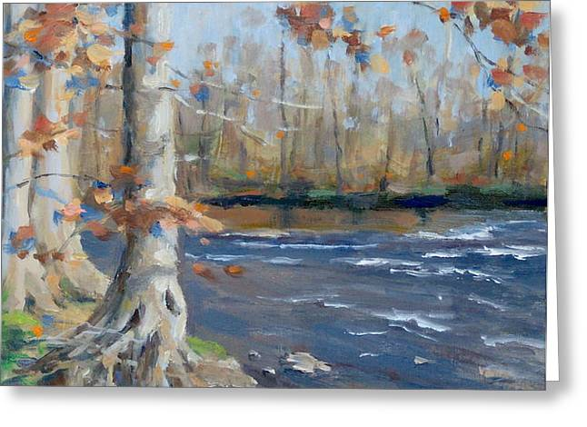 Winter on the Little Harpeth Greeting Card by Sandra Harris