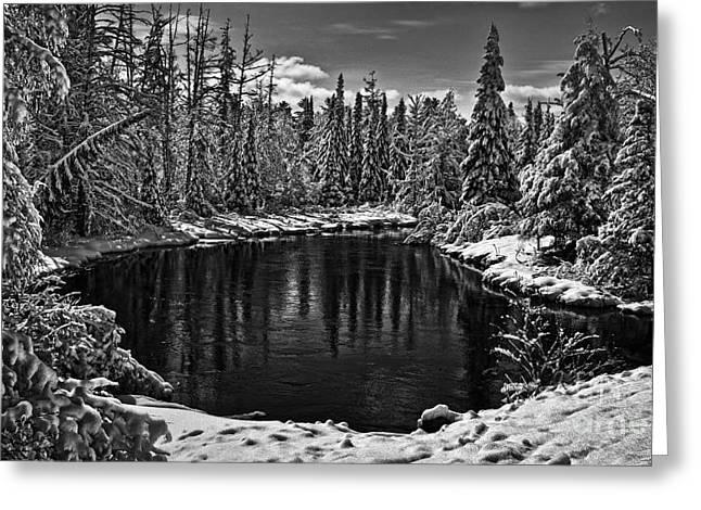 Karen Walker Greeting Cards - Winter on the River Greeting Card by Karen Walker