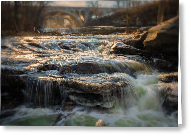 Metro Park Greeting Cards - Winter on the Rocky River Greeting Card by Michael Demagall