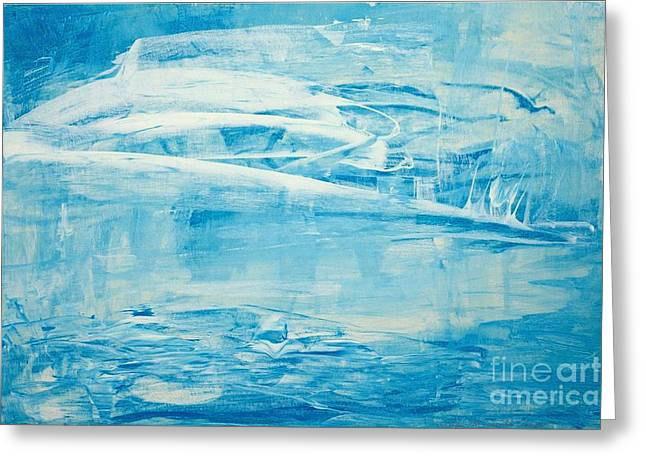 Walden Pond Paintings Greeting Cards - Winter on Walden Greeting Card by Marylin McDonald-Dorsey