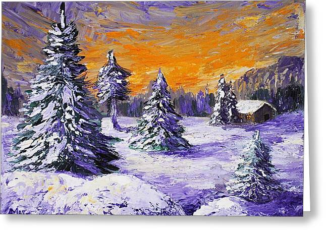 Stowe Greeting Cards - Winter Outlook Greeting Card by Anastasiya Malakhova