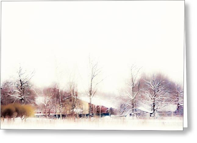 Unique View Greeting Cards - Winter Painting VII. Aquarel by Nature Greeting Card by Jenny Rainbow