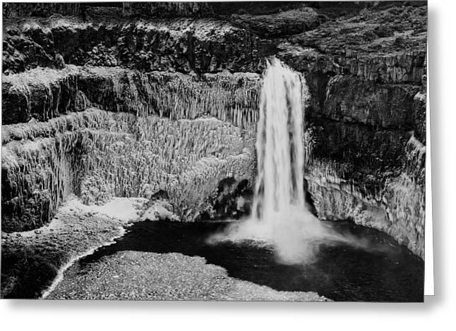 Winter Palouse Falls 3 Greeting Card by Mark Kiver