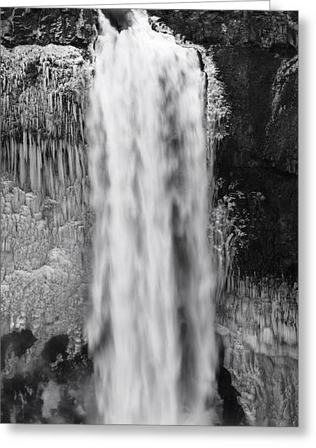 Winter Palouse Falls Vertical Greeting Card by Mark Kiver