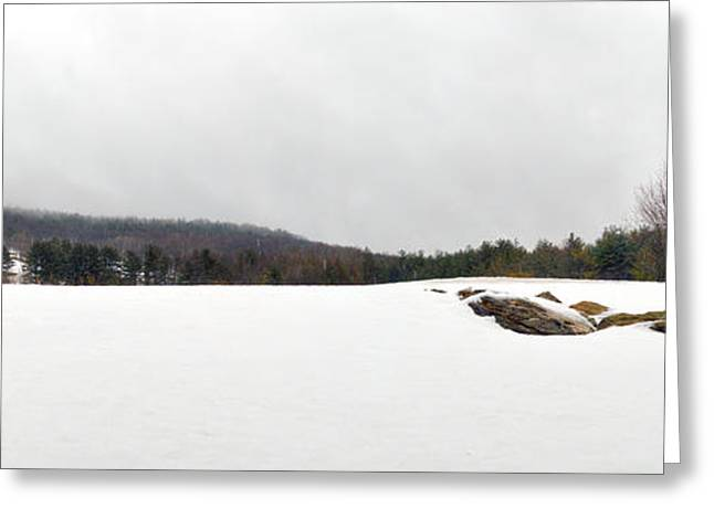 Snowy Day Greeting Cards - Winter Panoramic - The Berkshires Greeting Card by Geoffrey Coelho