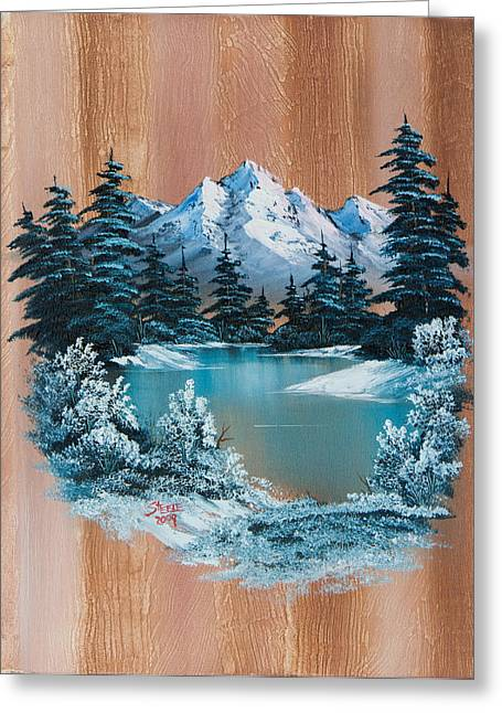 Bob Ross Paintings Greeting Cards - Winter Heaven Greeting Card by C Steele