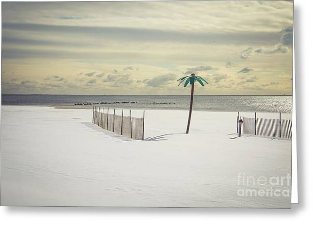 York Beach Photographs Greeting Cards - Winter Paradise Greeting Card by Evelina Kremsdorf