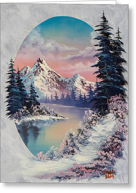 Bob Ross Paintings Greeting Cards - Winter Delight  Greeting Card by C Steele
