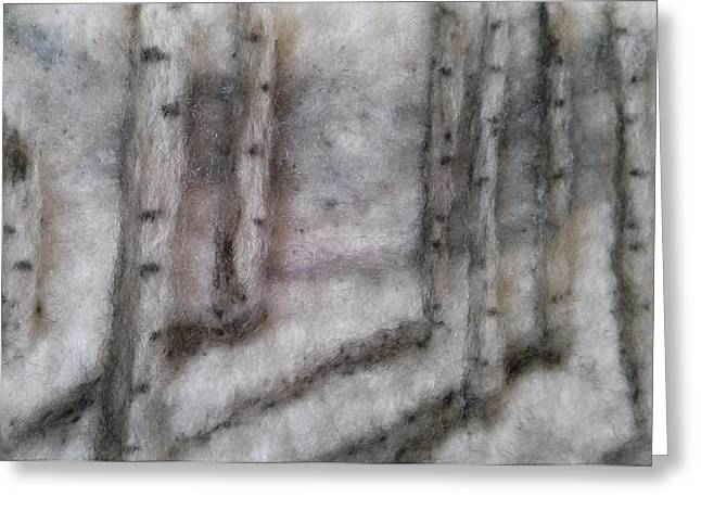 Felting Greeting Cards - Winter Peace Greeting Card by Heather Quinones