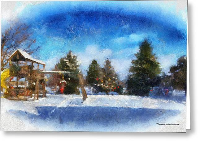 Snowstorm Posters Greeting Cards - Winter Photo Art 01 Greeting Card by Thomas Woolworth