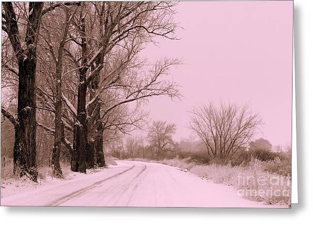 Winter Pink Greeting Card by Carol Groenen