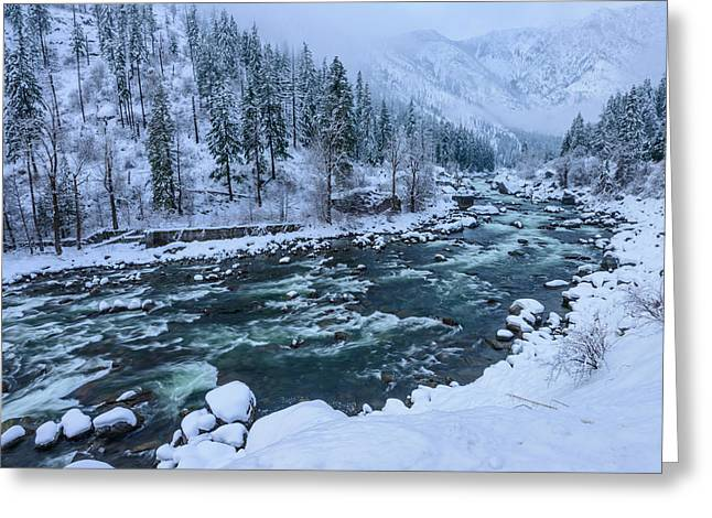 Leavenworth Greeting Cards - Winter Playground Greeting Card by Dan Mihai