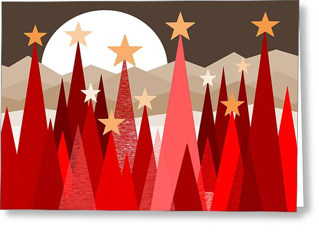 Winter Reds Greeting Card by Val Arie
