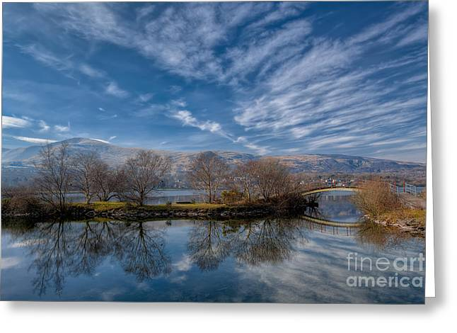 Autumn Digital Art Greeting Cards - Winter Reflections Greeting Card by Adrian Evans