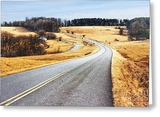 Orchards Prints Greeting Cards - Winter Road - Blue Ridge Parkway II Greeting Card by Dan Carmichael