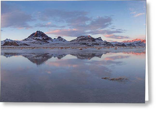 Winter Salt Flats Greeting Card by Chad Dutson