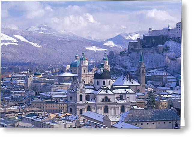 Winter, Salzburg, Austria Greeting Card by Panoramic Images