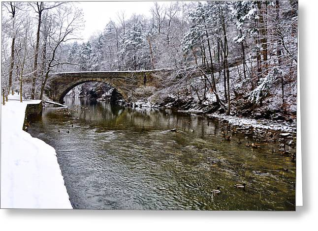 Winter Scene Digital Art Greeting Cards - Winter Scene at Valley Green Greeting Card by Bill Cannon