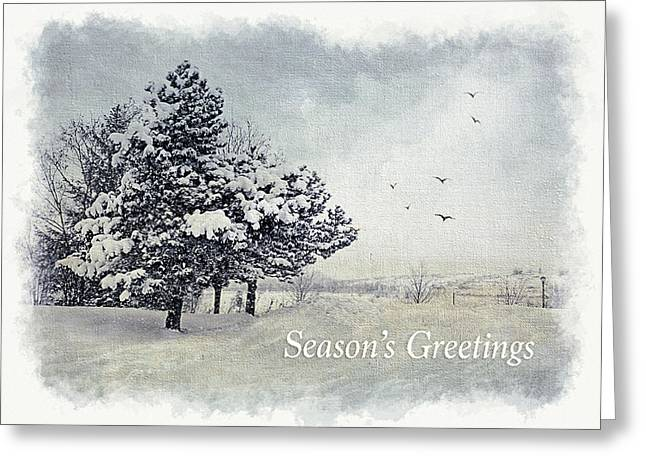 Snow Scene Landscape Greeting Cards - Winter Scene Greeting Card Greeting Card by Julie Palencia