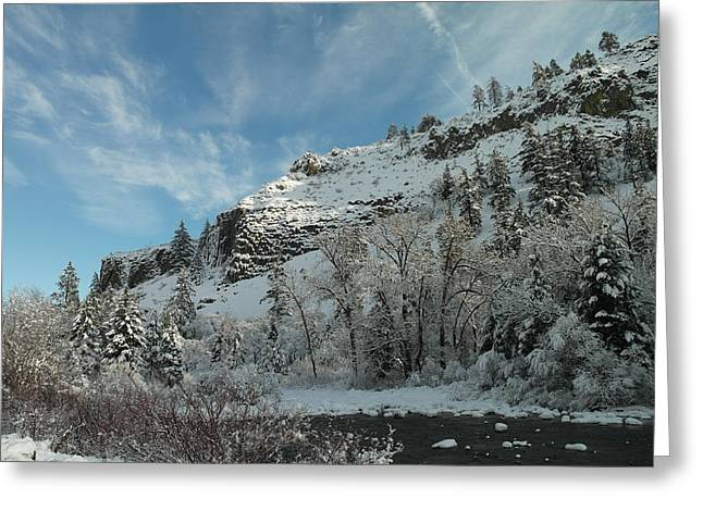Oak Creek Greeting Cards - Winter Scene Greeting Card by Jeff  Swan