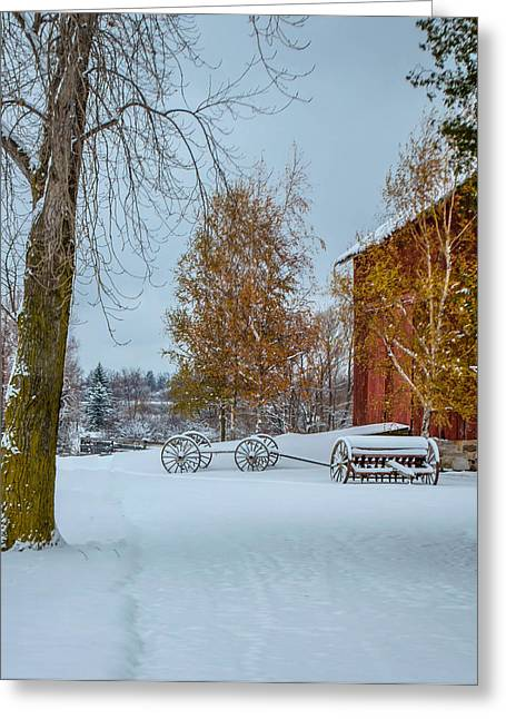 Skaneateles Greeting Cards - Winter Scene Greeting Card by Robert Green
