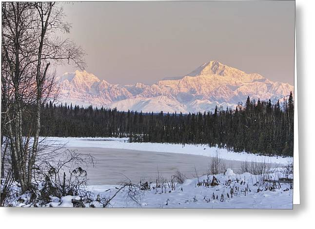 Hdr Landscape Greeting Cards - Winter Scenic Of The Southside Of Mt Greeting Card by Michael Criss