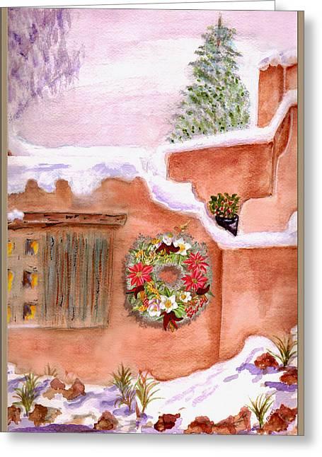 Adobe Mixed Media Greeting Cards - Winter Season Adobe Greeting Card by Paula Ayers