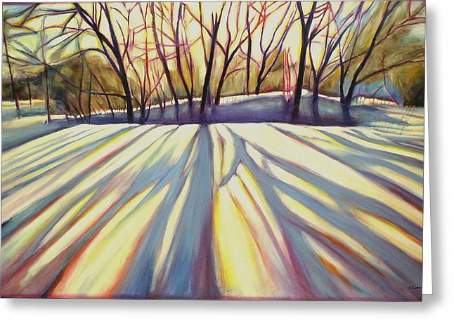 Kitchener Paintings Greeting Cards - Winter Shadows Greeting Card by Sheila Diemert