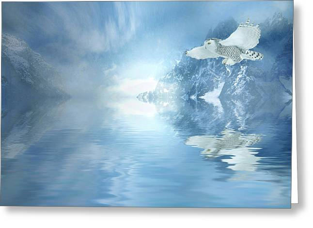 Snow Capped Greeting Cards - Winter Greeting Card by Sharon Lisa Clarke