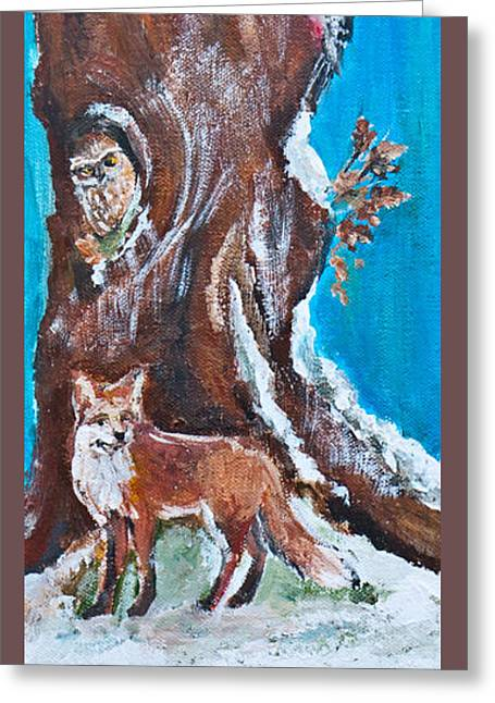 Snow Tree Prints Greeting Cards - Winter Shelter I Greeting Card by Wendy Le Ber