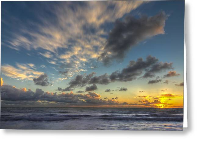 Southern California Sunset Beach Greeting Cards - Winter Skies Greeting Card by Sean Foster