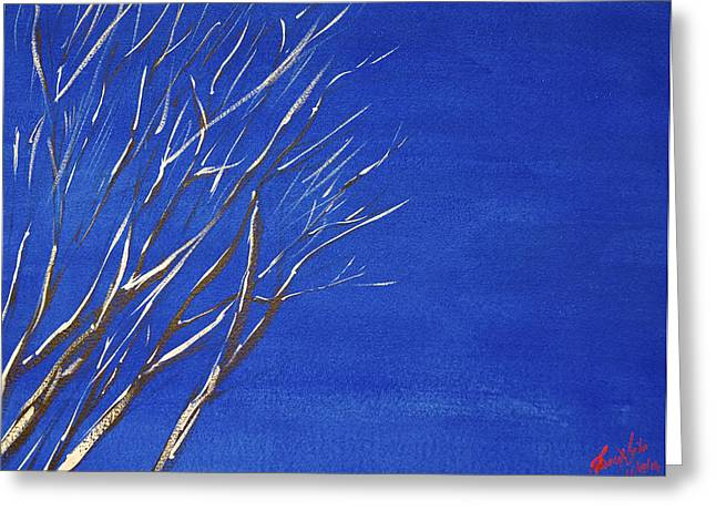 Spectacular Paintings Greeting Cards - Winter Sky Greeting Card by James Nyika